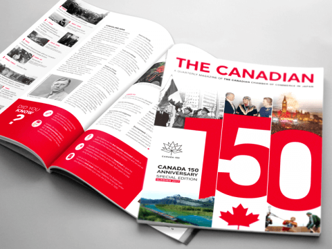 Custom Media to Publish Special 150th Confederation Anniversary magazine for the Canadian Chamber of Commerce in Japan